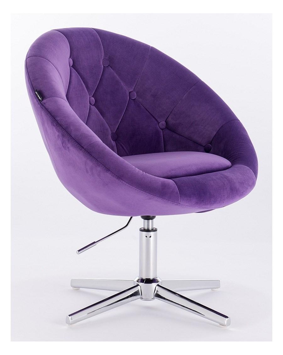 Fotel Hr8516 Fioletowy Welur
