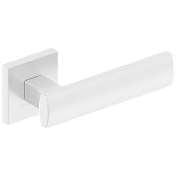 Białe klamki do drzwi wewnętrznych AGAT