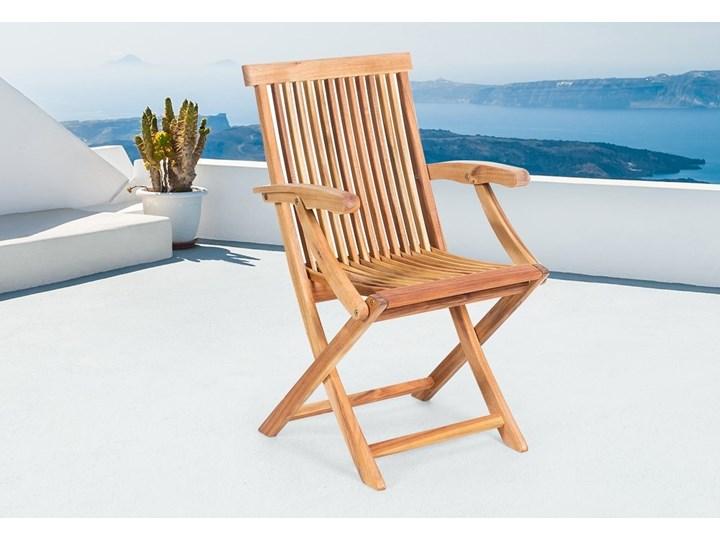 Krzesło Ogrodowe Krzesło Drewniane Akacja Java