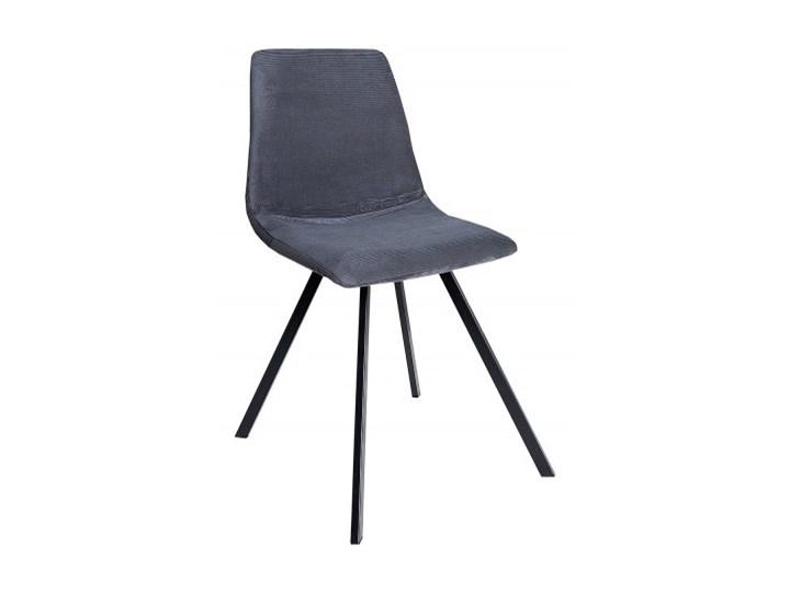 Krzeslo Tapicerowane Do Jadalni Ellie Sztruks Ciemnoszare Krzesla