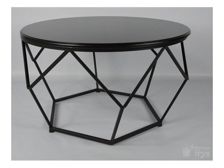 Stolik ława Okrągła Geometryczna Drewno Metal