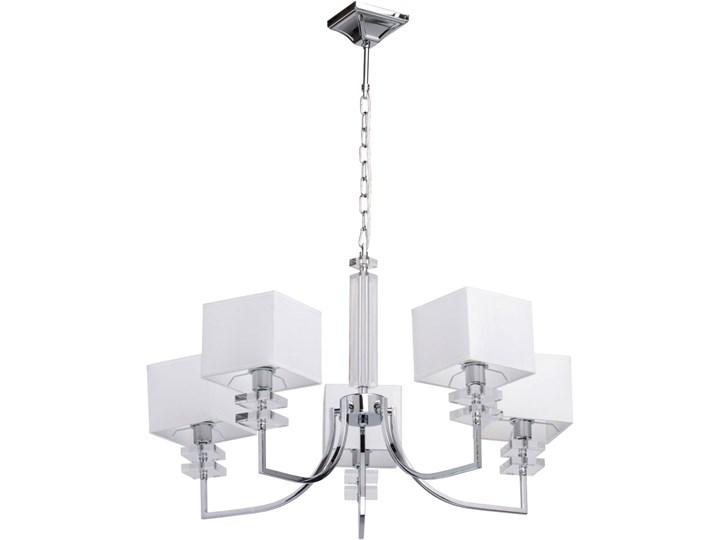 Lampa wisząca białe, kwadratowe klosze 5 żarówek MW Light Megapolis