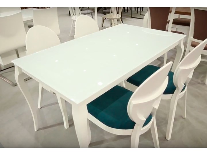 Ogromny Stół ze szklanym blatem Bresso - Stoły kuchenne - zdjęcia, pomysły NK33