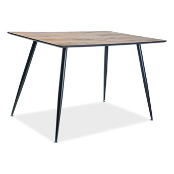 Stół do jadalni na metalowych nogach Remus orzech