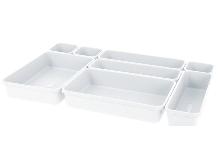 Organizery do szuflad - 8 szt w komplecie, kolor biały
