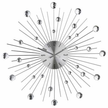 Zegar ścienny z kryształami, nowoczesna ozdoba o modny kształcie