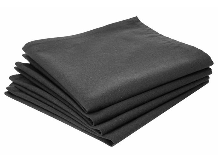4 eleganckie serwetki, ciemnoszare,  zastawa, dekoracja stołu, bawełna, 40 x 40 cm, gładkie, stylowe Tkanina Dekoracyjne