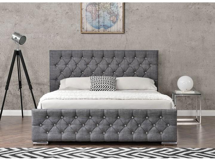 łóżko Tapicerowane Do Sypialni 140x200 1253g Szare
