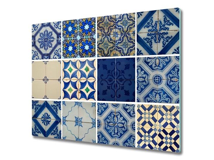 Deska do krojenia Portugalskie kafle Prostokątny Szkło Kolor Szary