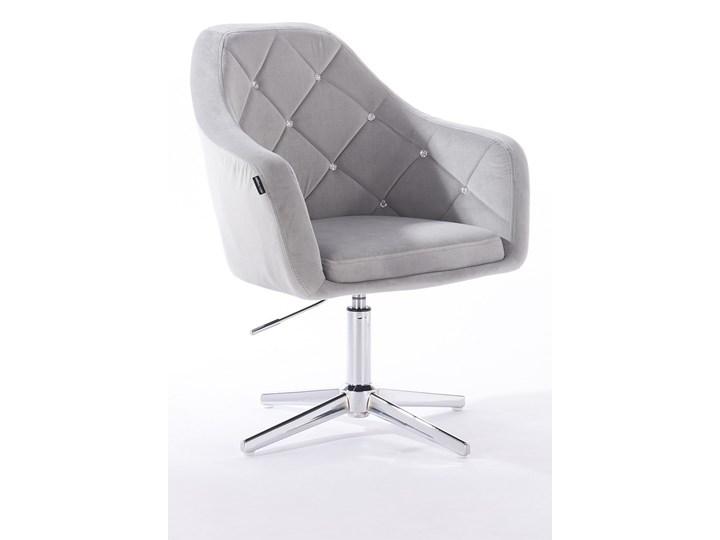 Fotel Hr830cross Stalowy Welur Fotele Do Salonu Zdjęcia