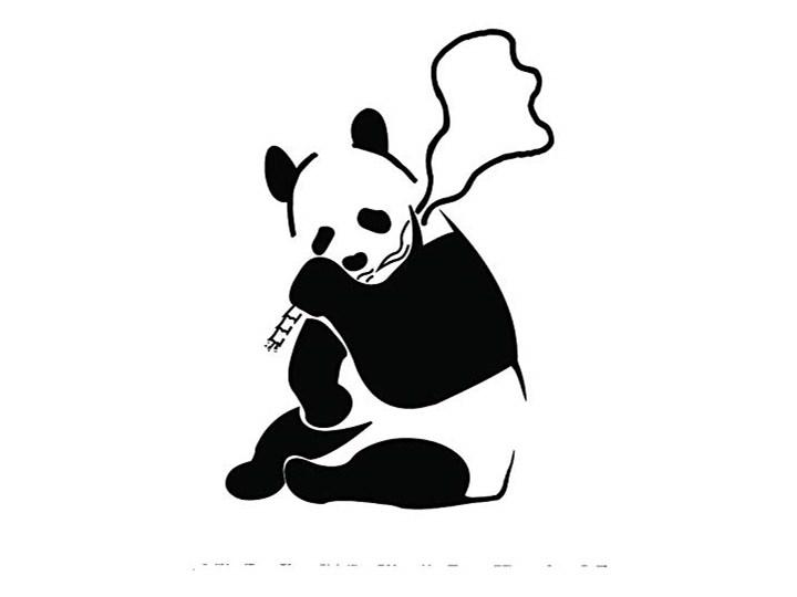 Naklejka Na Sciane Naklejka Na Sciane Motyw Dymu Elementowe Panda