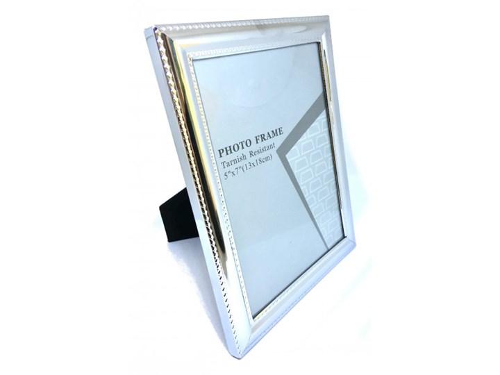 POPIERSIE DEKORACYJNE BIAŁE ATENA 8x7x28CM Pomieszczenie Salon Metal Ramka na zdjęcia Kolor Srebrny