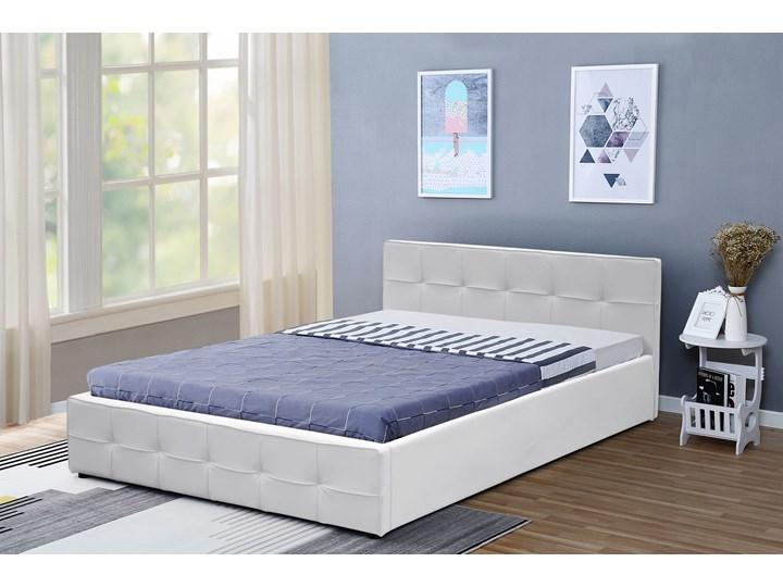 łóżko 150 Z Materacem Tapicerowane 1294g Białe