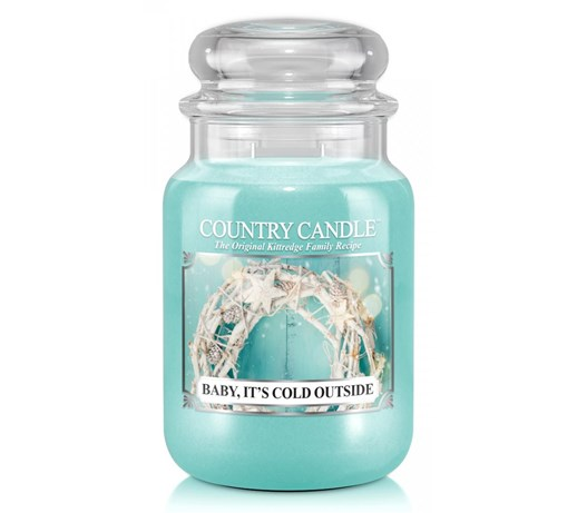 Country Candle - Baby It's Cold Outside - Duży słoik (652g) 2 knoty