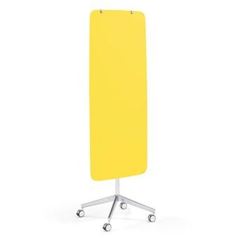 Mobilna tablica szklana STELLA z zaokrąglonymi narożnikami, żółty