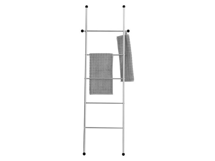 Wieszak łazienkowy w formie drabinki, stojak stalowy z 5 poziomami i 2 dodatkowymi zaczepami - 158 x 52 cm, WENKO
