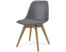 Krzesło Grace Bess szare nogi drewniane