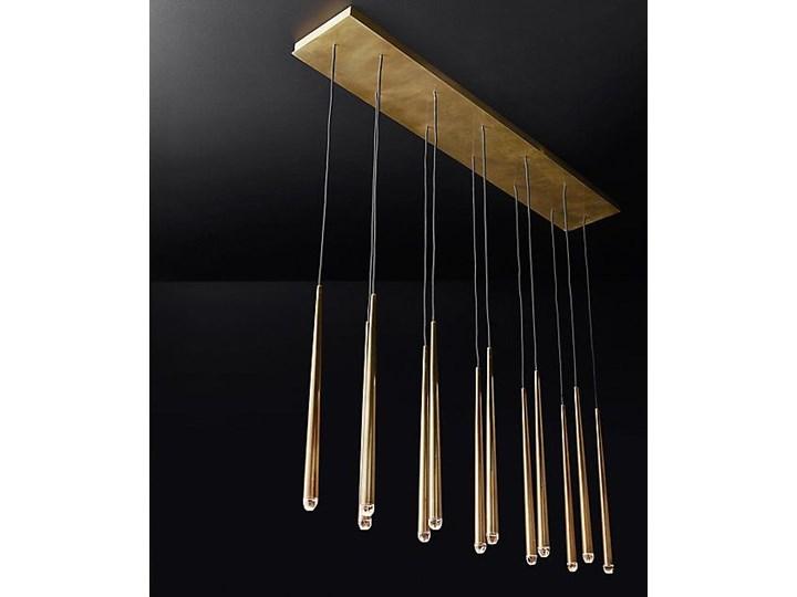 Brass Flute Row - lampa sufitowa rzędowa Żyrandol Mosiądz Metal Styl Nowoczesny