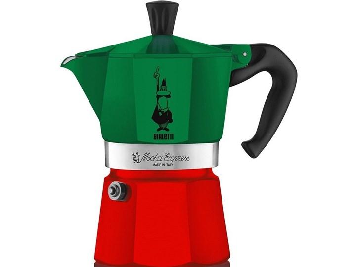 Kawiarka BIALETTI Moka Express Italia 6 TZ Zielono-czerwony Aluminium Kolor Zielony Kategoria Kawiarki i kafetery
