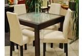 Krzesło ReSet AKRM 4 szt firmy BRW + stół 85/85 z szybą od 1511
