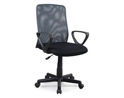 VidaXL Krzesło biurowe z siatkowym oparciem, szare, tkanina