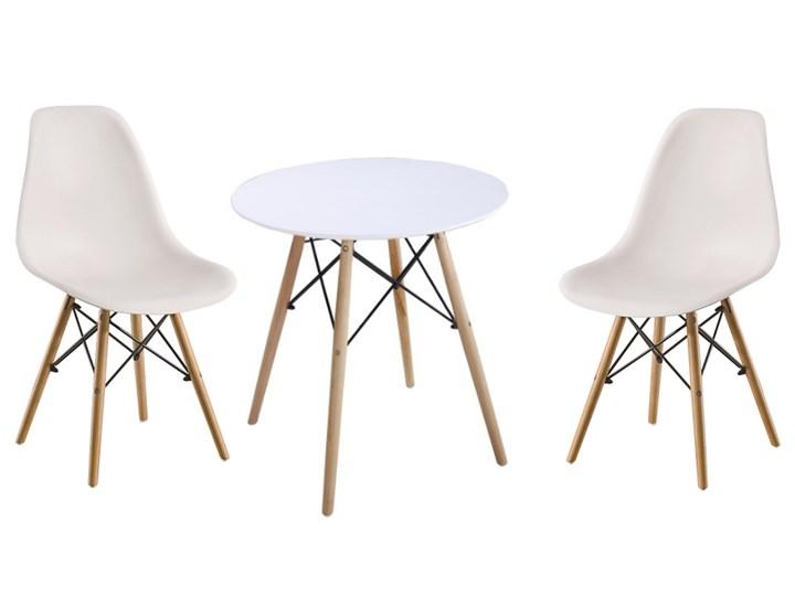 Zestaw stół okrągły Milano Paris 80cm + krzesła Enzo