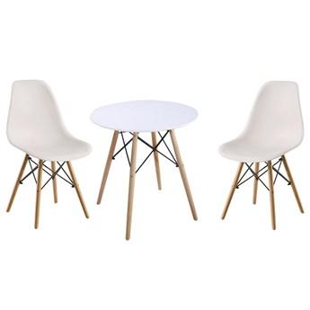 Zestaw stół okrągły Milano Paris 70cm + krzesła Enzo