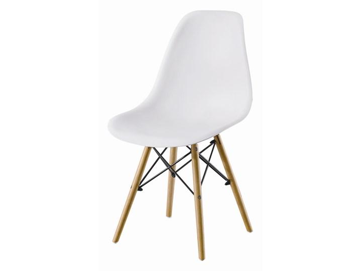 Krzesło Enzo Dsw Paris bukowe nogi białe Szerokość 41 cm Styl Skandynawski Szerokość 46 cm Wysokość 81 cm Głębokość 40 cm Tworzywo sztuczne Głębokość 41 cm Krzesło inspirowane Drewno Metal Styl Nowoczesny
