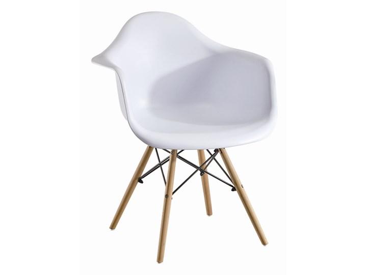 Fotel Skandynawski Milano Paris biały Pomieszczenie Biuro i pracownia Fotel inspirowany Głębokość 45 cm Metal Wysokość 80 cm Tworzywo sztuczne Styl Nowoczesny