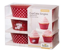 Birkmann La vie en rose foremki na cupcakes 6szt średnica 7 cm