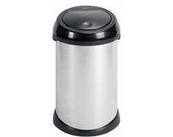 Brabantia Touch Bin kosz na śmieci z czarną pokrywą pojemność 50 l