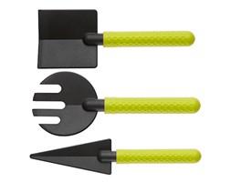 Koziol Geo narzędzia ogrodnicze 3 szt, kolor limonkowy długość 24 cm