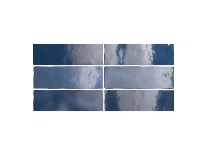 Artisan Blue 6,5x20 niebieskie kafelki Kolor Granatowy Kafle Płytki ścienne Prostokąt 6,5x20 cm Wzór Jednolity