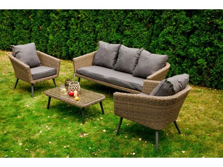 Nowoczesne meble z technorattanu ANTICO sofa 3 osobowa Zestawy wypoczynkowe Aluminium Tworzywo sztuczne Kategoria Zestawy mebli ogrodowych