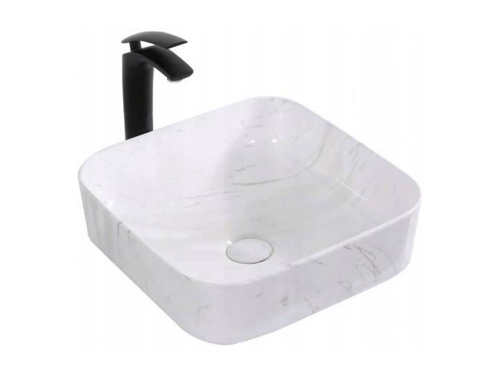 VELDMAN UMYWALKA CERAMICZNA RODO MARMUR Nablatowe Ceramika Szerokość 39 cm Kwadratowe Kategoria Umywalki