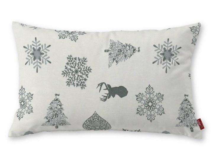 Dekoria Poszewka Kinga na poduszkę prostokątną, srebrno-szare wzory na jasnym tle, 60 × 40 cm, Christmas 40x60 cm Poliester Bawełna Styl nowoczesny