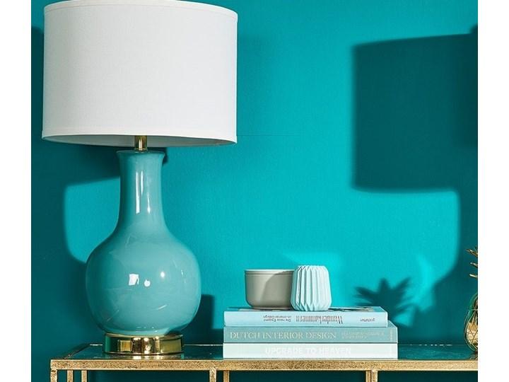 Modish piękna lampa turkusowa stołowa nocna złota Hampton - Lampy stołowe RI01