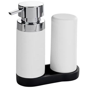 Dozownik z pompką do mydła i silikonowy pojemnik na płyny, zestaw 2 w 1 do kuchni lub łazienki - 250 ml, WENKO