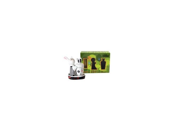 Porcelanowa solniczka i pieprzniczka - Królik w Krainie Czarów Ceramika Zestaw do przypraw Kolor Czarny