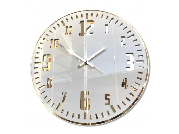Duży zegar ścienny UNIQUE złoty