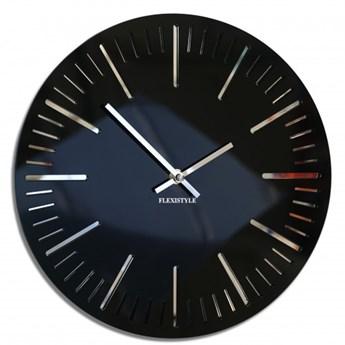 Zegar ścienny do salonu TRIM czarny połysk 30cm