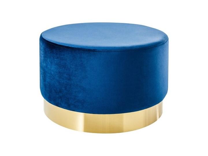 Pufa Modern Barock Ø55x35 cm niebiesko-złota