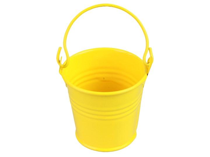 Wiaderko Metalowe żółte Doniczki I Osłonki Zdjęcia
