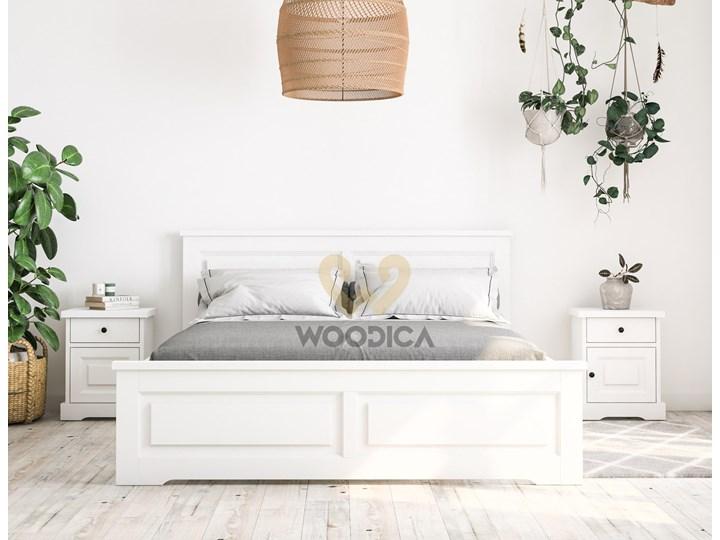 Białe łóżko Parma 48 I 120x200