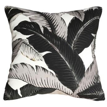 Poduszka dekoracyjna Bahama Dark w liście bananowca 45 x 45 cm