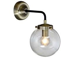 Kinkiet LAMPA ścienna ODELIA MB1009-1 Italux industrialna OPRAWA szklana kula ball przezroczysta