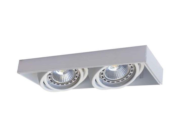 Podtynkowa LAMPA sufitowa ONEON 94362-WH Zumaline prostokątna OPRAWA metalowy WPUST do zabudowy biały