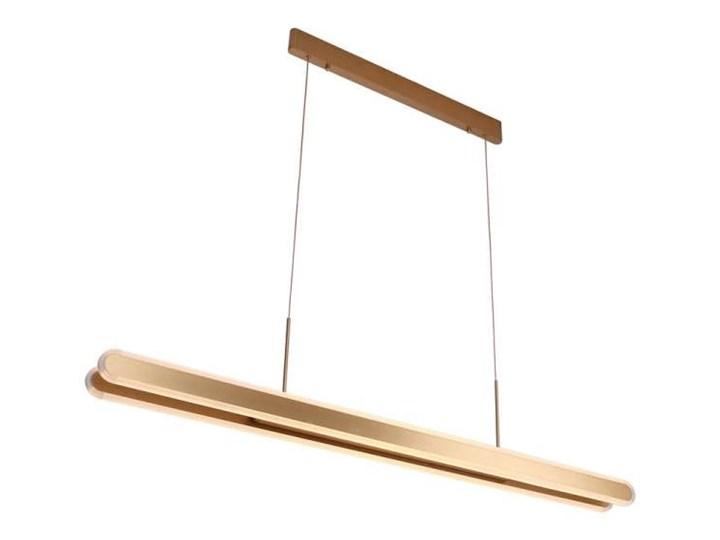 Lampa Wisząca Sydney P0261 Maxlight Metalowa Oprawa Zwis Led 53w Listwa Złota