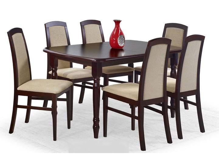 Stół rozkładany Dires - ciemny orzech Długość 150 cm  Wysokość 75 cm Szerokość 80 cm Kolor Brązowy Rozkładanie Rozkładane