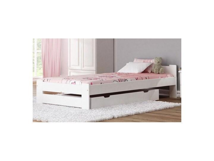 łóżko Drewniane Niwa 90x200 Białe Z Materacem Piankowym łóżka